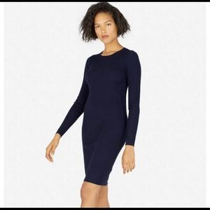 EVERLANE Luxe Wool Ribbed Long-Sleeve Dress